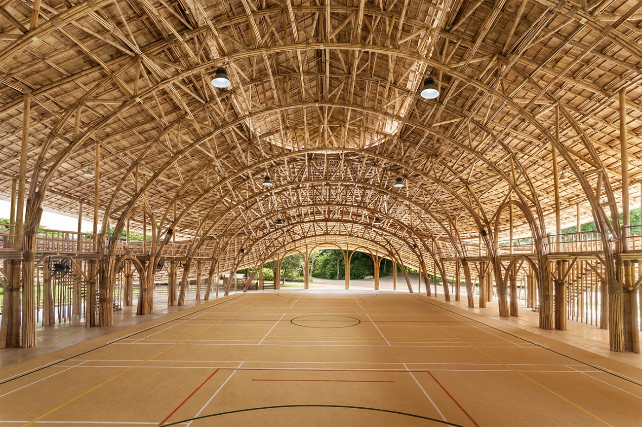 School in Thailand made of bamboo and natural materials