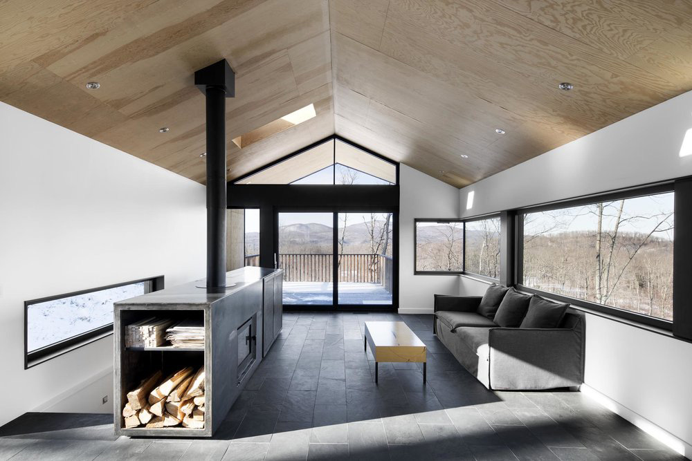 Villa in wood and steel