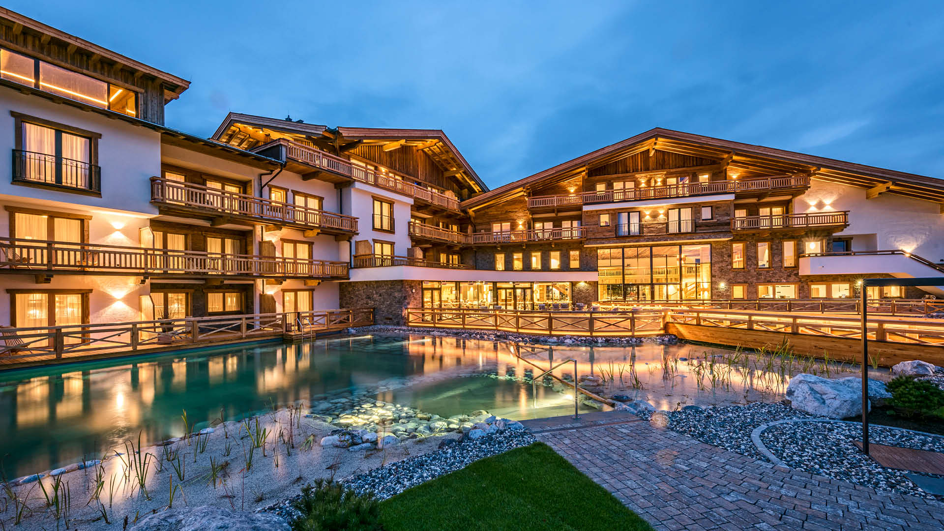 Luxury resort on the Alps