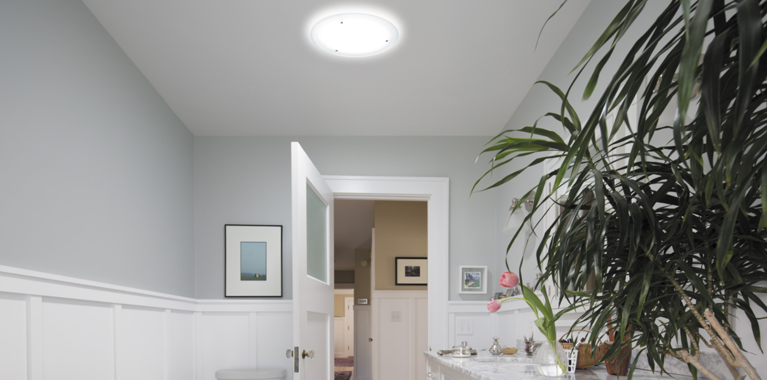 Natural lighting in interiors with solar tunnel Infinity Motion Solatube