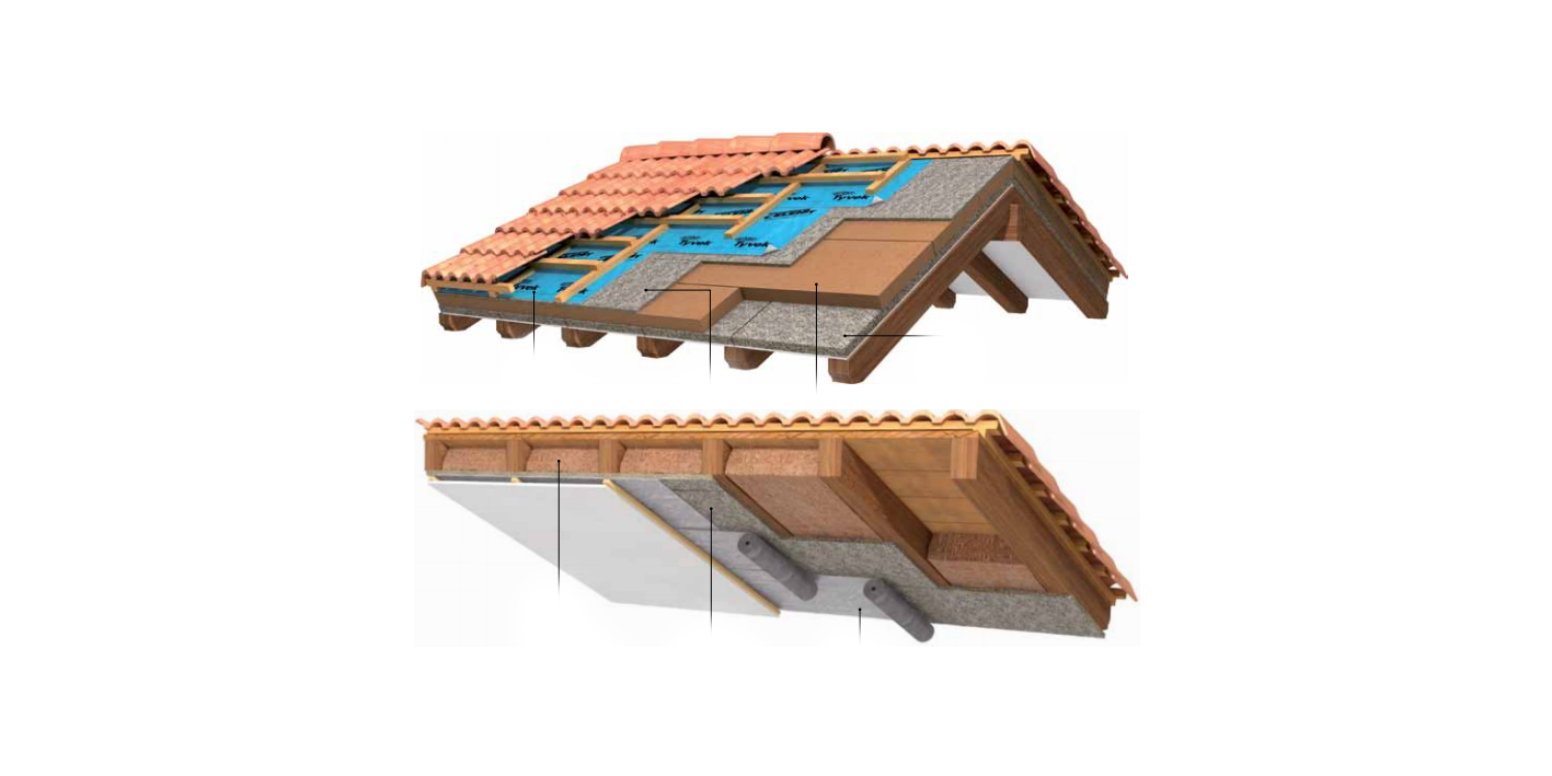 Wooden roof layering