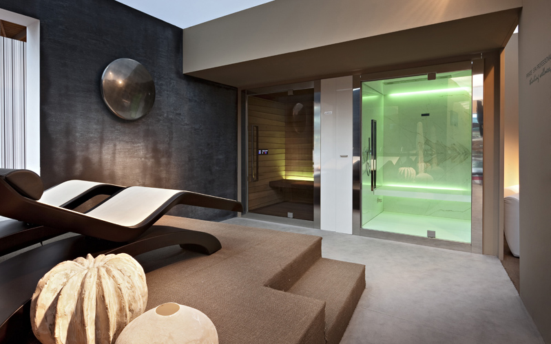 Wellness areas in private spaces