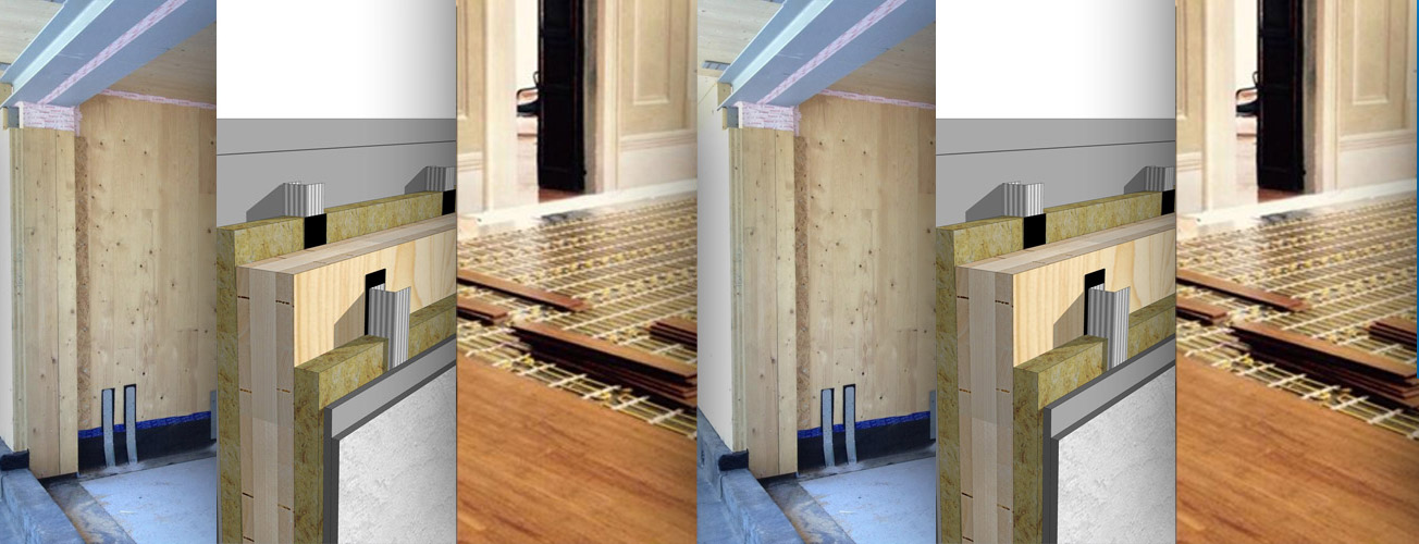 Wooden solutions on new and existing architectures