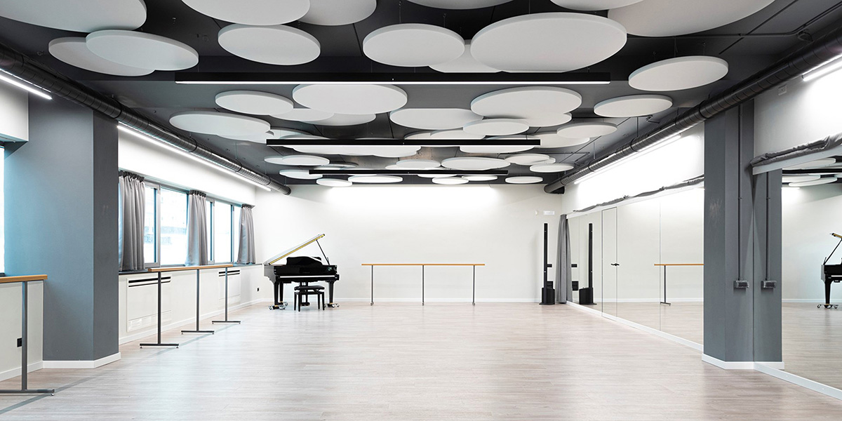 grande open space con pianoforte