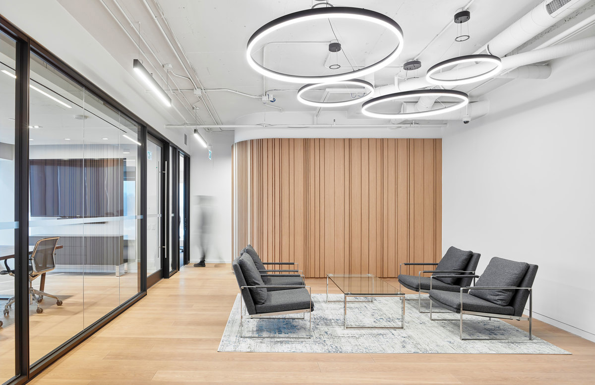 Interior design of an office in Toronto