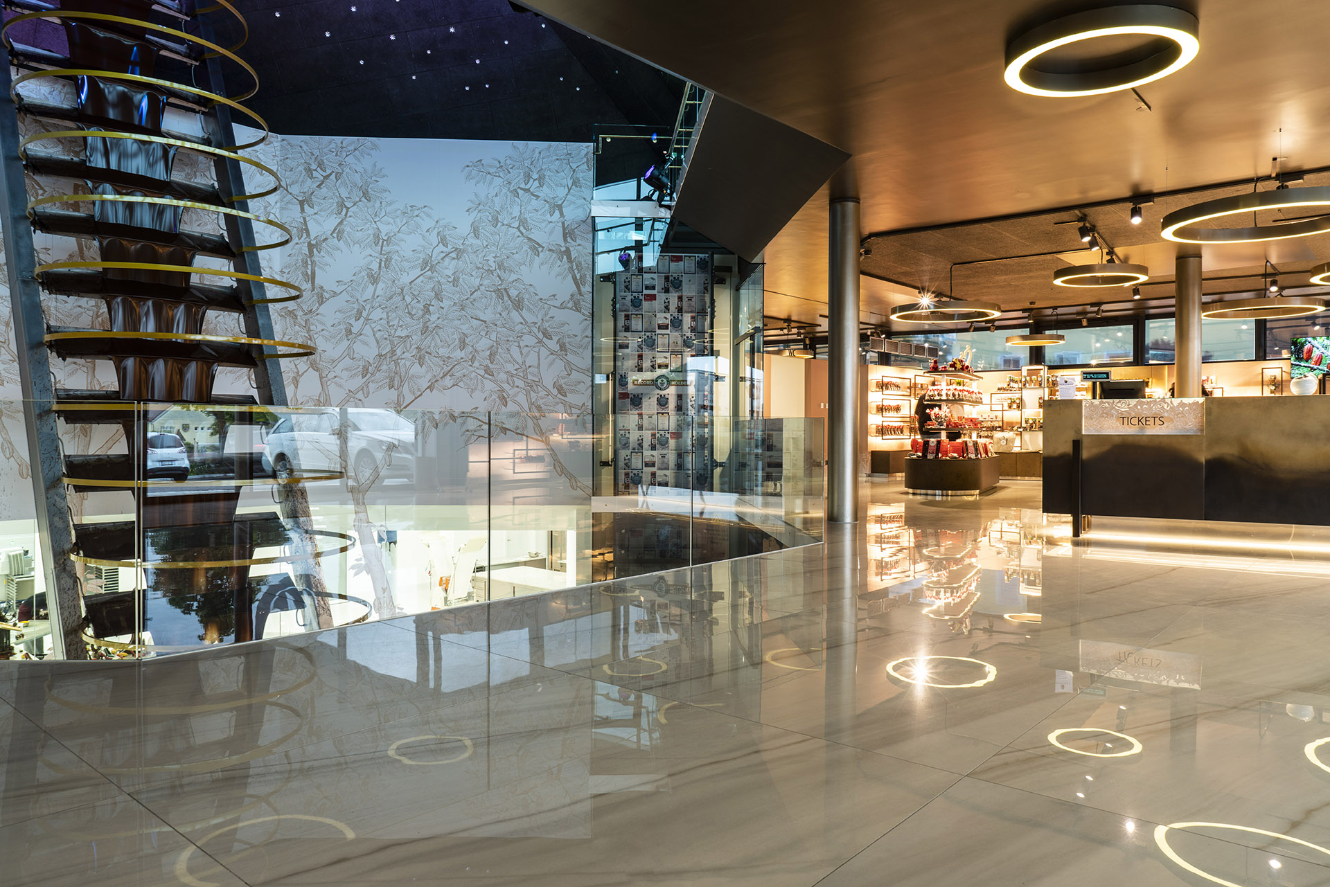 Chocolate Center in Austria with FMG slabs